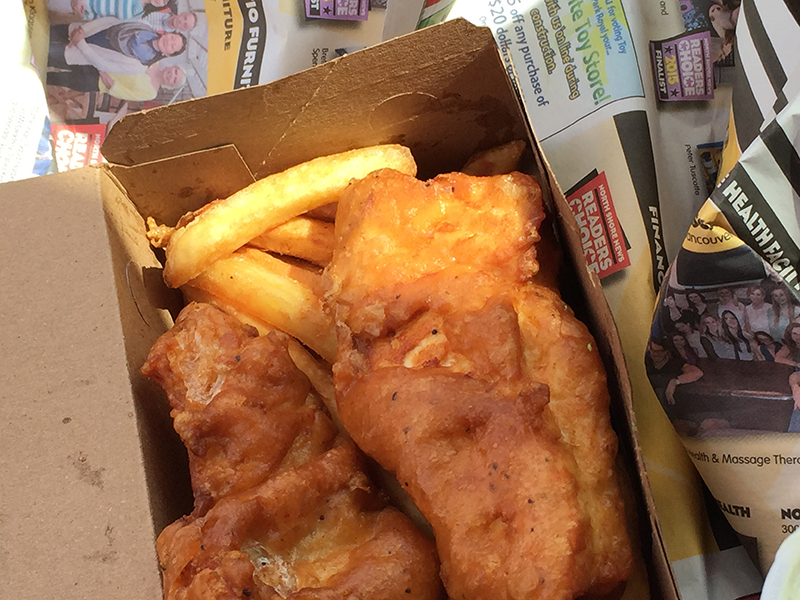 Crab Ship fish and chips